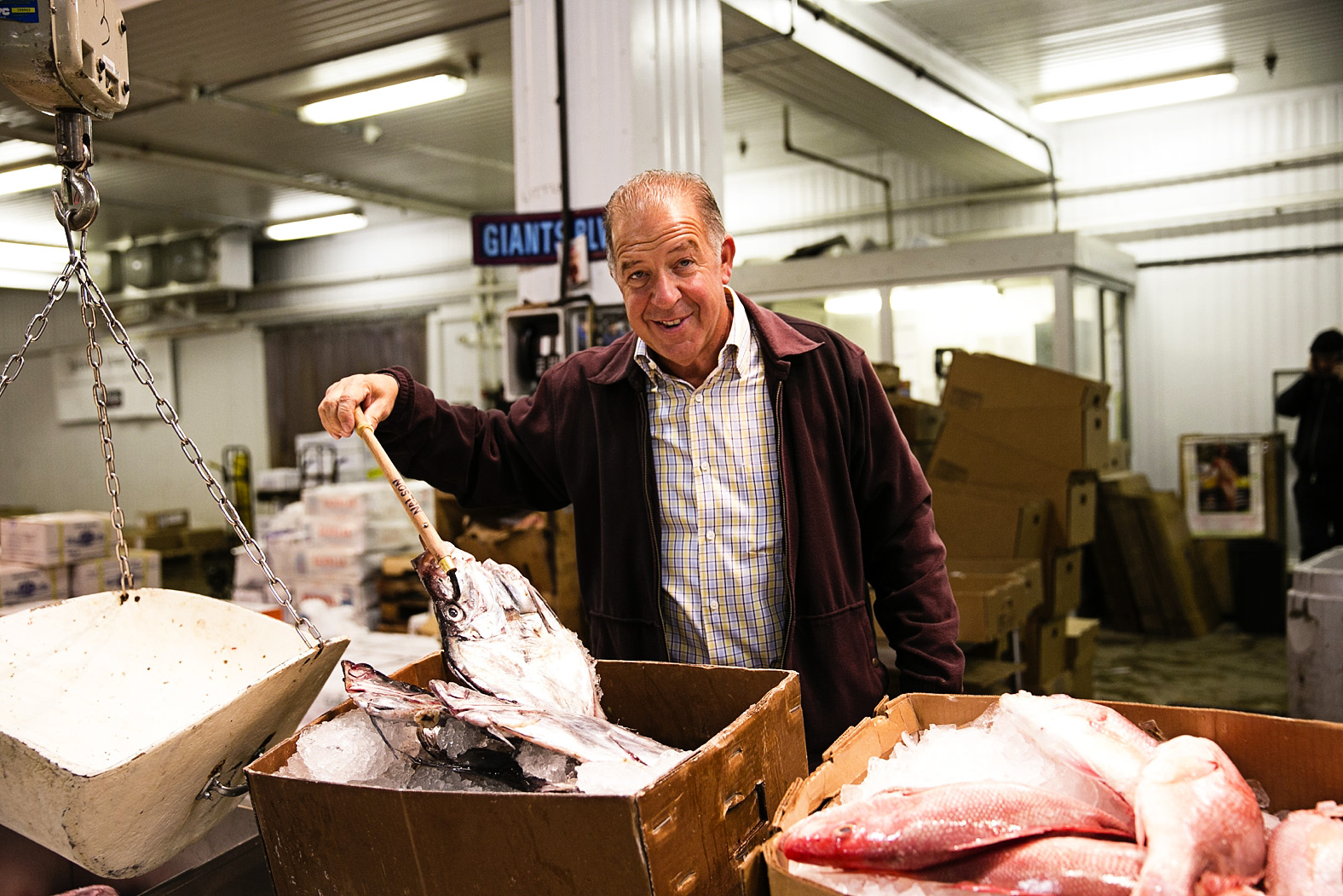 Joe Gurrera, owner Citarella, at The New Fulton Fish Market for Serendipity Magazine