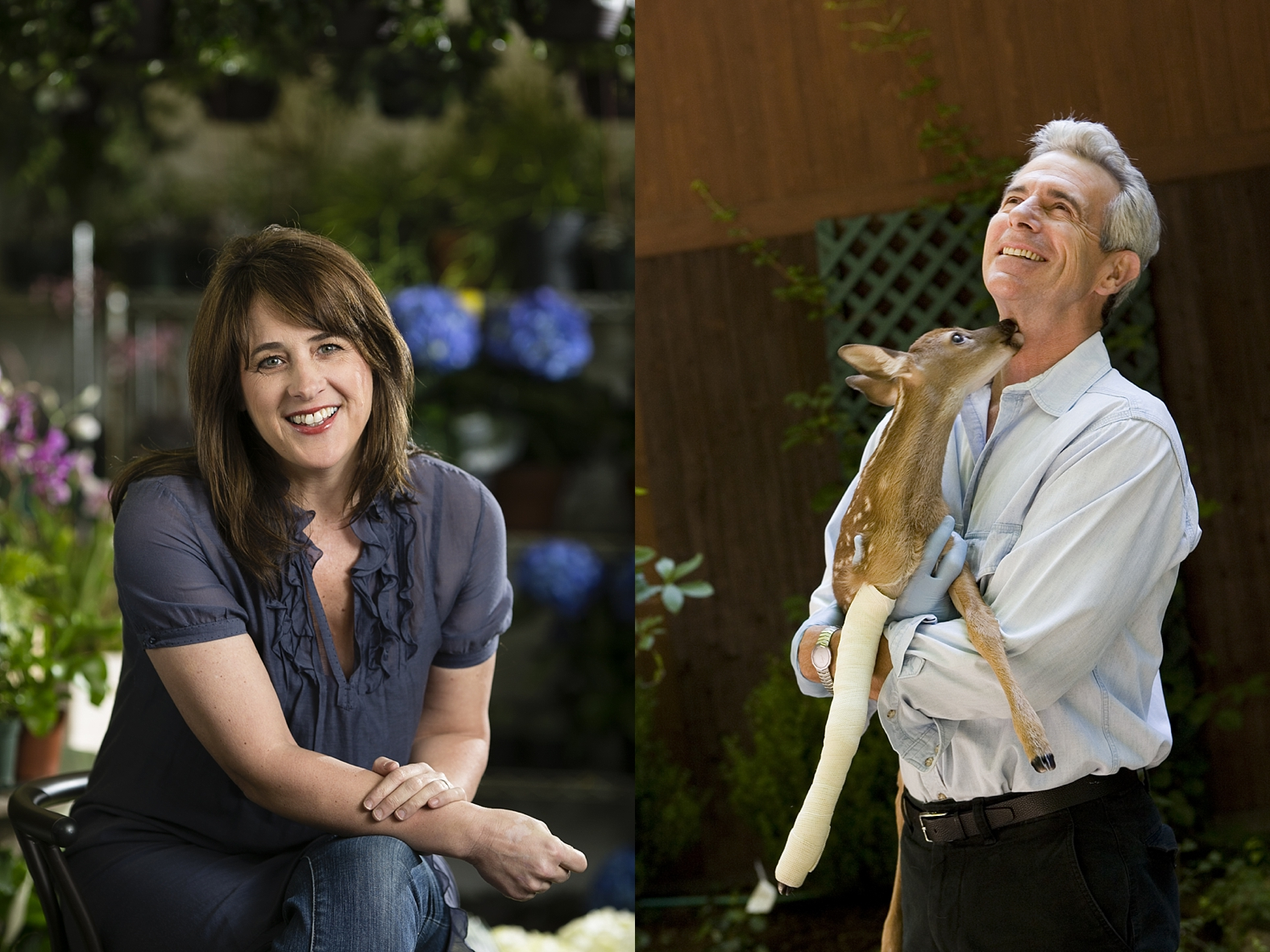 Katie Brown, home and gardening tv host and author for Serendipity Magazine |  James Naughton, actor for Moffly Media
