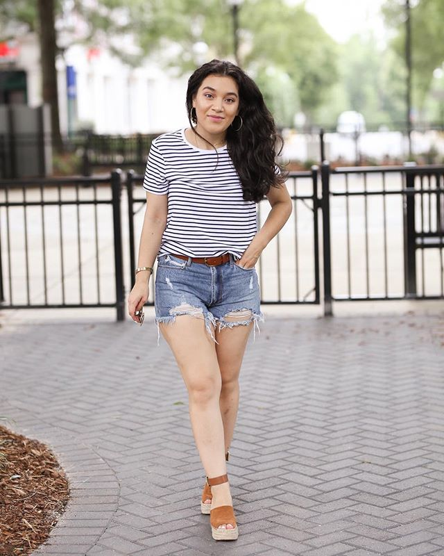 Also received lots of questions about these shorts. Details in recent post. Link in bio🤗 • • • • • • #blogger #lifestyle #lifestyleblogger #fashionblogger #fashion #asos #nordstrom #madewell #marcfisher #summer #wwit #ootd #clt #charlotteblogger #charlotte #dmv