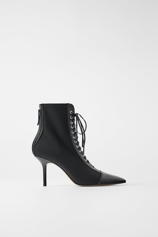 Zara Black Lace Bootie