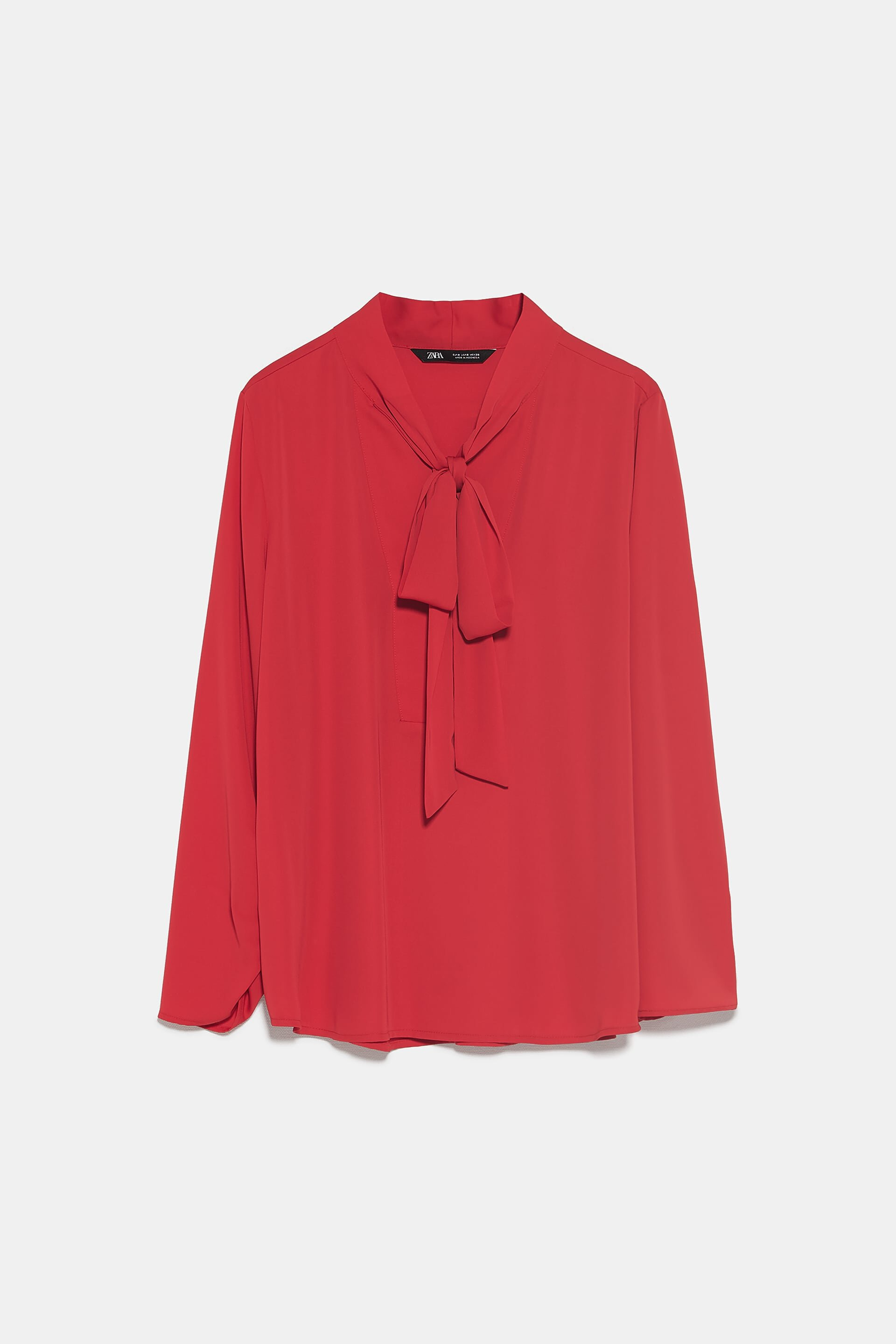 Zara Red Bow Blouse
