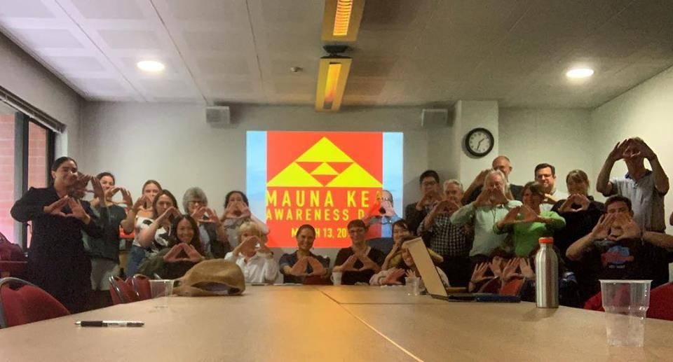 "Emalani Case - "" It was the perfect opportunity to lift the name of our mauna and to share in this day of awareness, support, and aloha for Mauna Kea. ""  From Aotearoa."