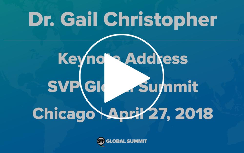 Video - Including Dr. Gail Christopher's complete keynote address