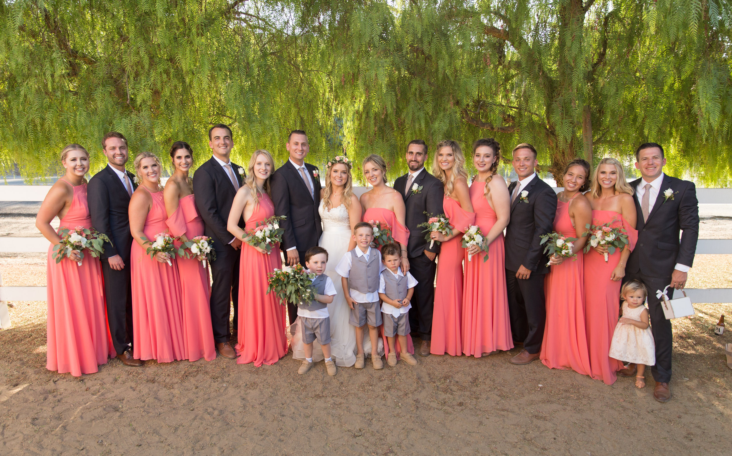 - The wedding party where your closest of friends and family stand next to you and celebrate the beginning of the newest chapter in life.