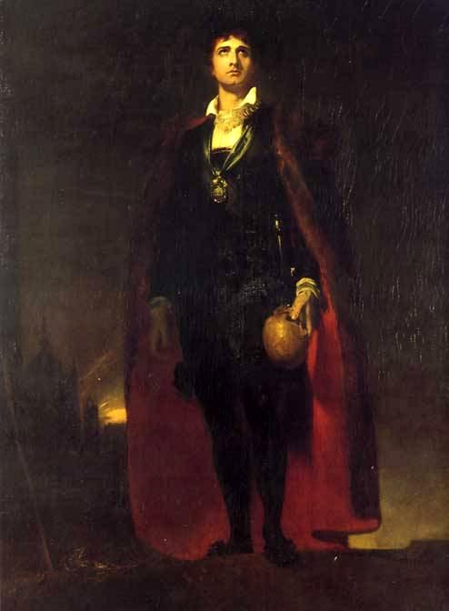 John Philip Kemble as Hamlet  (1802).  Sir Thomas Lawrence