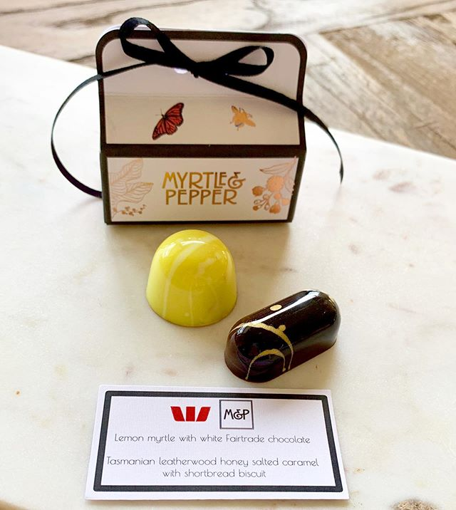 Delight your clients with an M&P gift box containing two, six or twelve of our beautiful handmade chocolate bonbons ✨. We only have a couple of spaces left for our busy Christmas season so act quickly to secure your order! 😍❤️💚❤️💚 ⛄️ ⛄️ #westpacshineconference #westpac #customerfirst #nativeaustralian #australiannative #corporategiftsaustralia #corporate #awardwinningchocolate #australianchocolate #chocolate #australianartisan #christmas2019 #australianmade #edibleluxury #mymaitland #myrtleandpepper #awardwinning 🏆