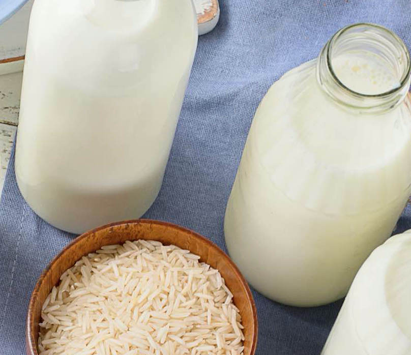 RICE MILK - Some people think rice milk has the closest taste to cow's milk.