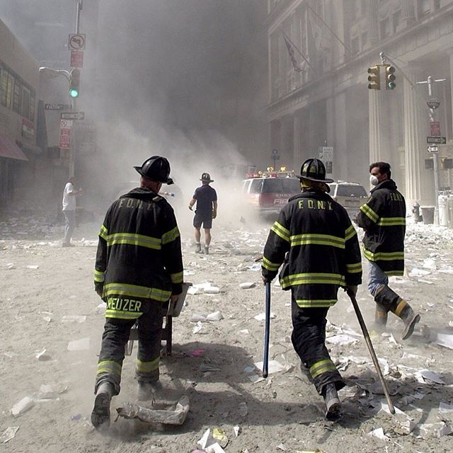 So many hero's emerged this day. ❤️I'll never forget... #september11th Posted @withrepost • @comiclonilove 343 American Firefighters walked into darkness and never made it home.  Over 200 have died from cancer and other complex medical issues caused by the contamination their rescue efforts exposed them to whilst searching for survivors. #neverforget