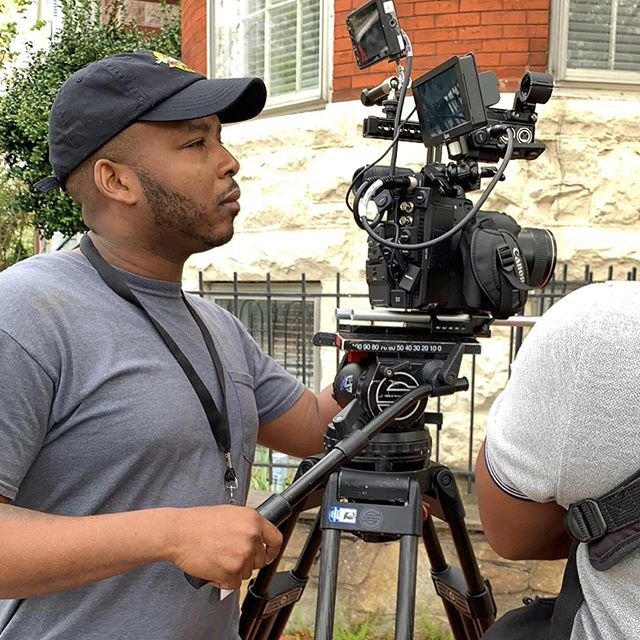 #BTS of our shoot with @cedrece_dcluxerealty for our new series: dwell here: DC. Our DP @chela_films always works his magic to get the money shot every 👏🏽single 👏🏽 time👏🏽 & our sound/boom operator @princell33 always brings his A-game. The whole squad is dope. New episode drops Saturday at 9am. Watch us work! 👊🏽 #dwellheredc