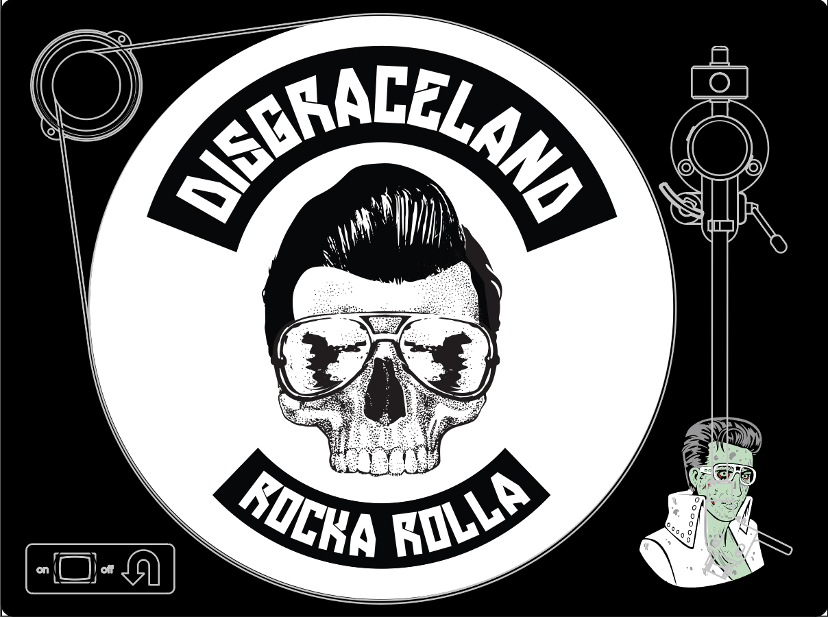 U-TURN AUDIO TURNTABLECheck Out the mock up design for the First Disgraceland Turntable. More Info coming soon on how you can WIN one. These are promotional only and not for sale. follow @disgracelandpod on Instagram and Twitter and follow Disgraceland on Facebook For updates on how you can get your hands on one.  -