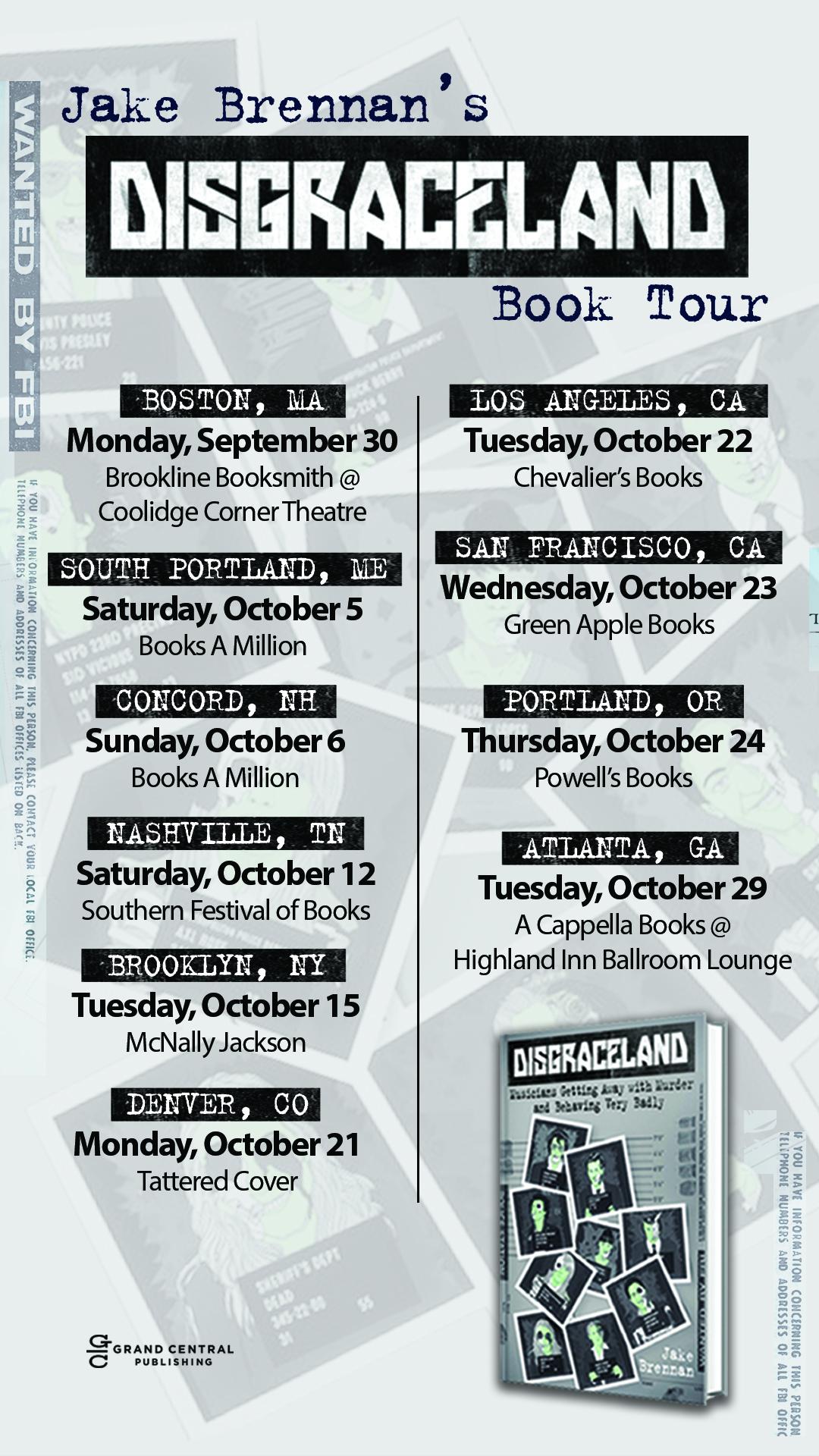 Disgraceland Book Tour