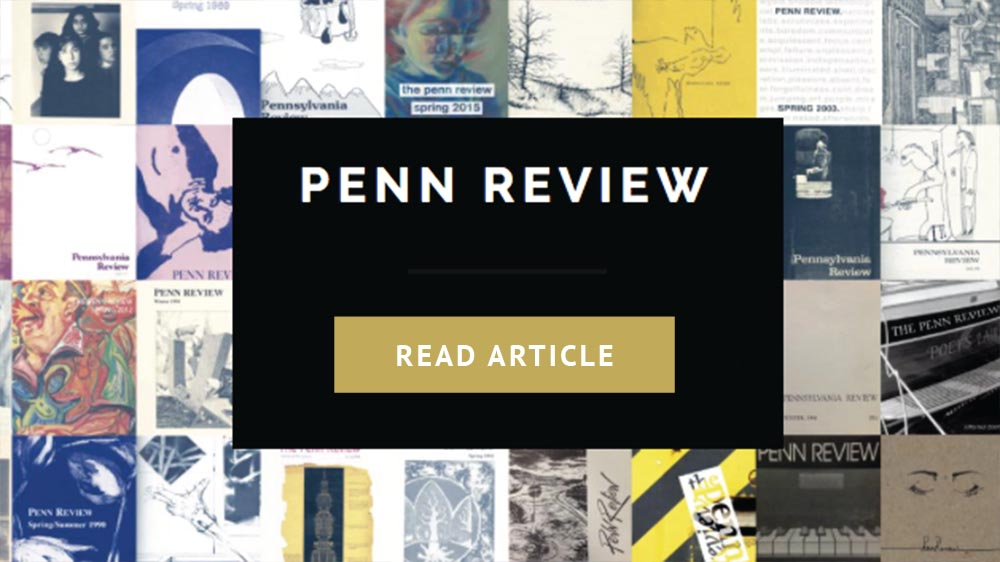 Picking Marbles from Dirt, Penn Review Literary Magazine