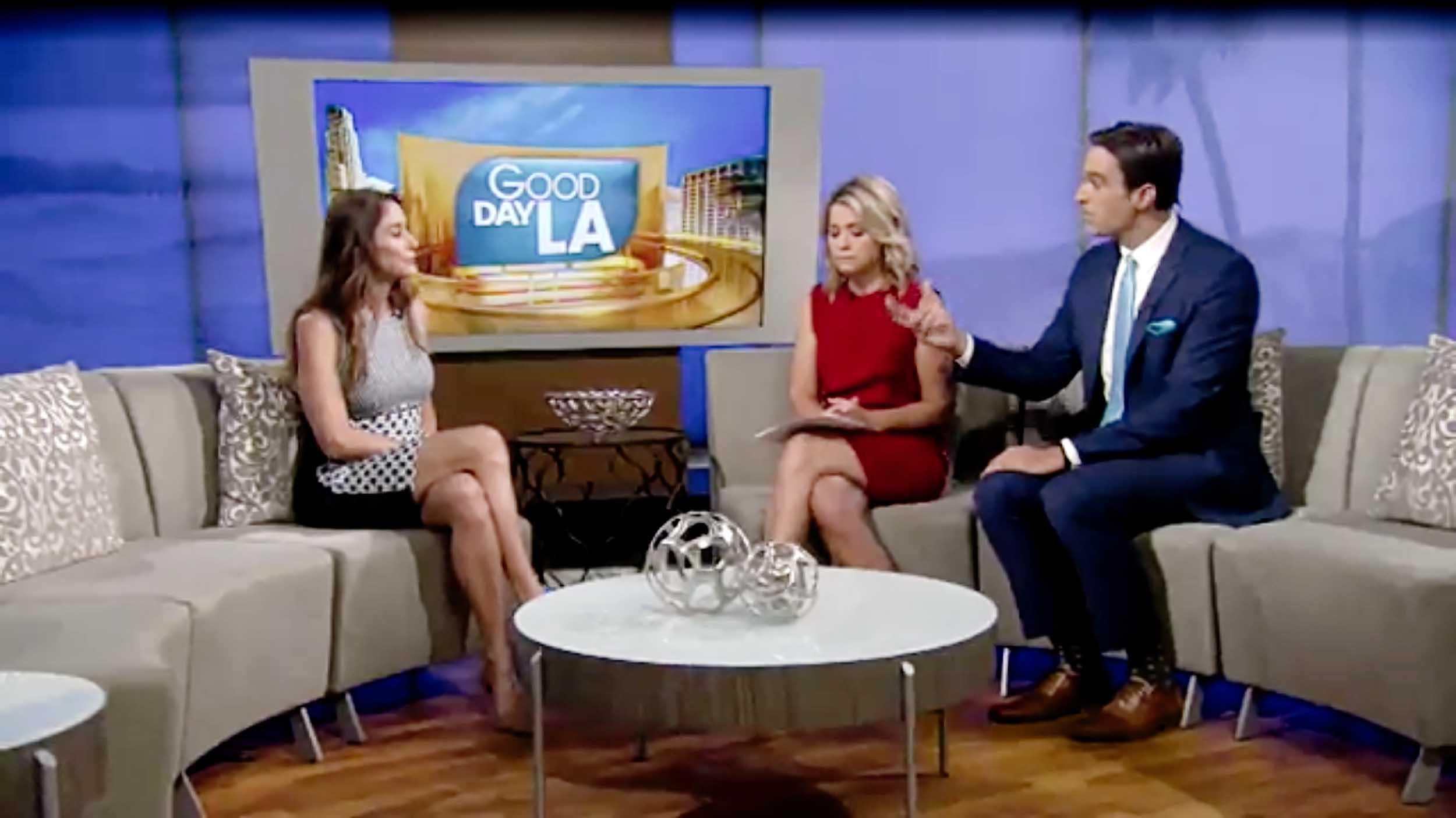 Blaze Bernstein's mother Jeanne Pepper Bernstein during an interview with Fox 11 Good Day LA.
