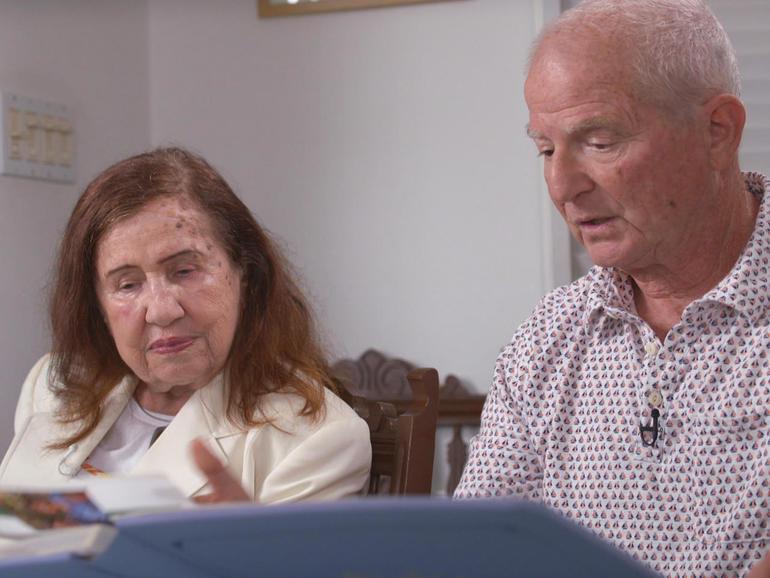 Leah and Richard Bernstein reminisce over photos of their beloved grandson, Blaze.  CBS NEWS