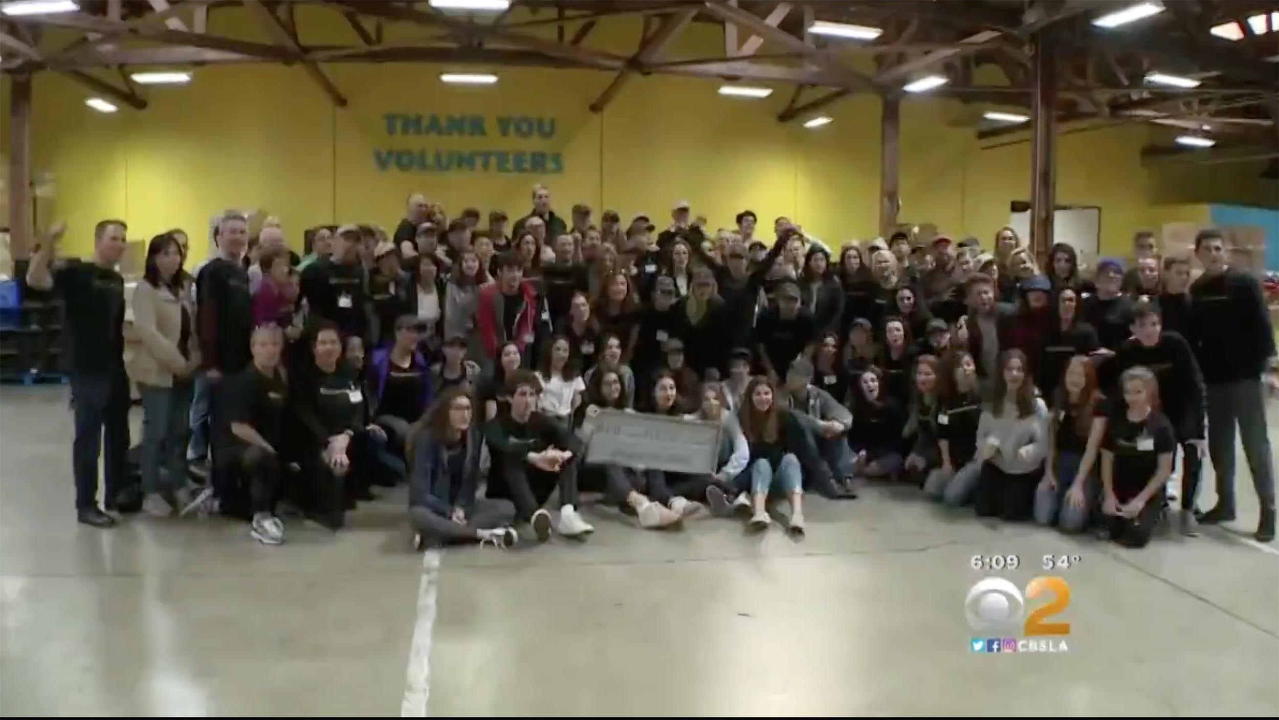 Roughly 150 people joined Jeanne and Gideon Bernstein for the Blaze it Forward day of service at Second Harvest Food Bank in Irvine on Martin Luther King Day.