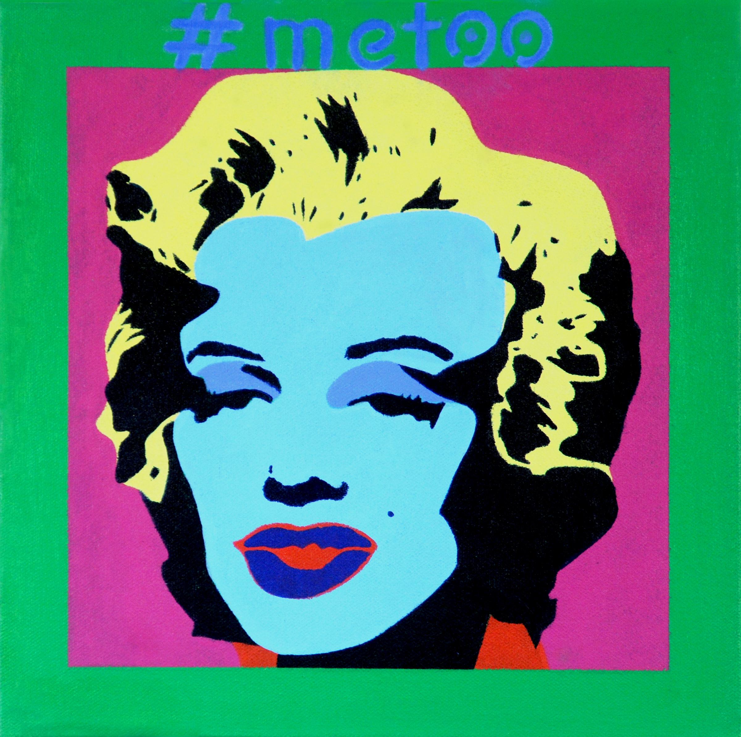 "#MeToo: Marilyn #4. 2018. 12""x12""."