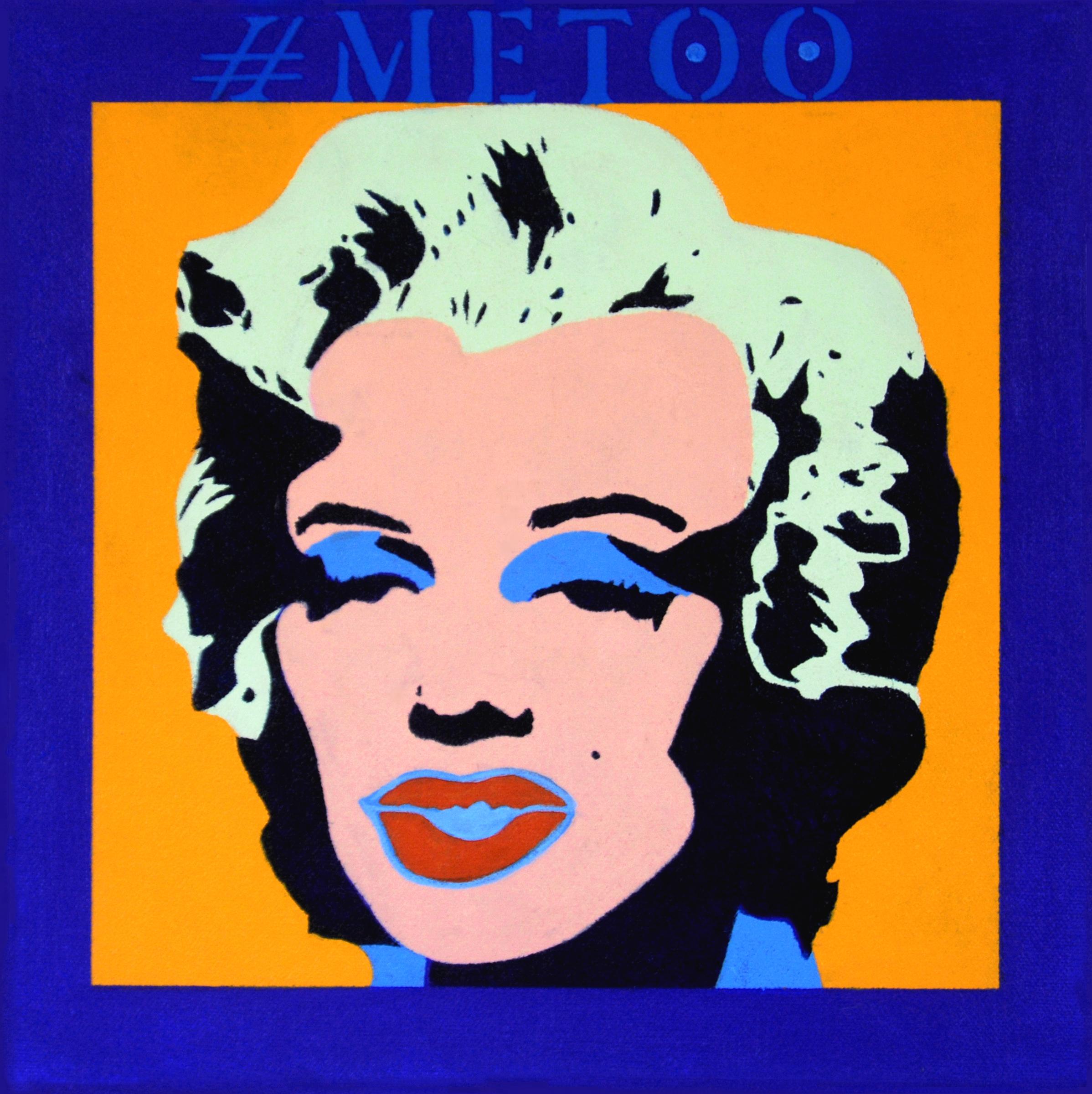 "#MeToo: Marilyn #5. 2018. 12""x12""."