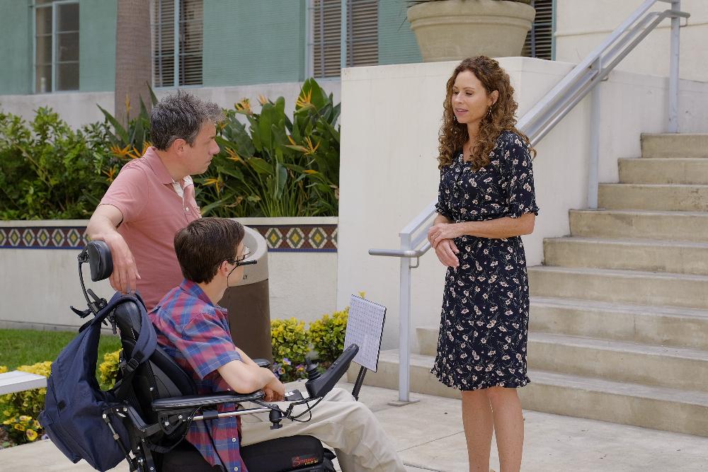 Maya, Jimmy (John Ross Bowie), and JJ (Micah Fowler)