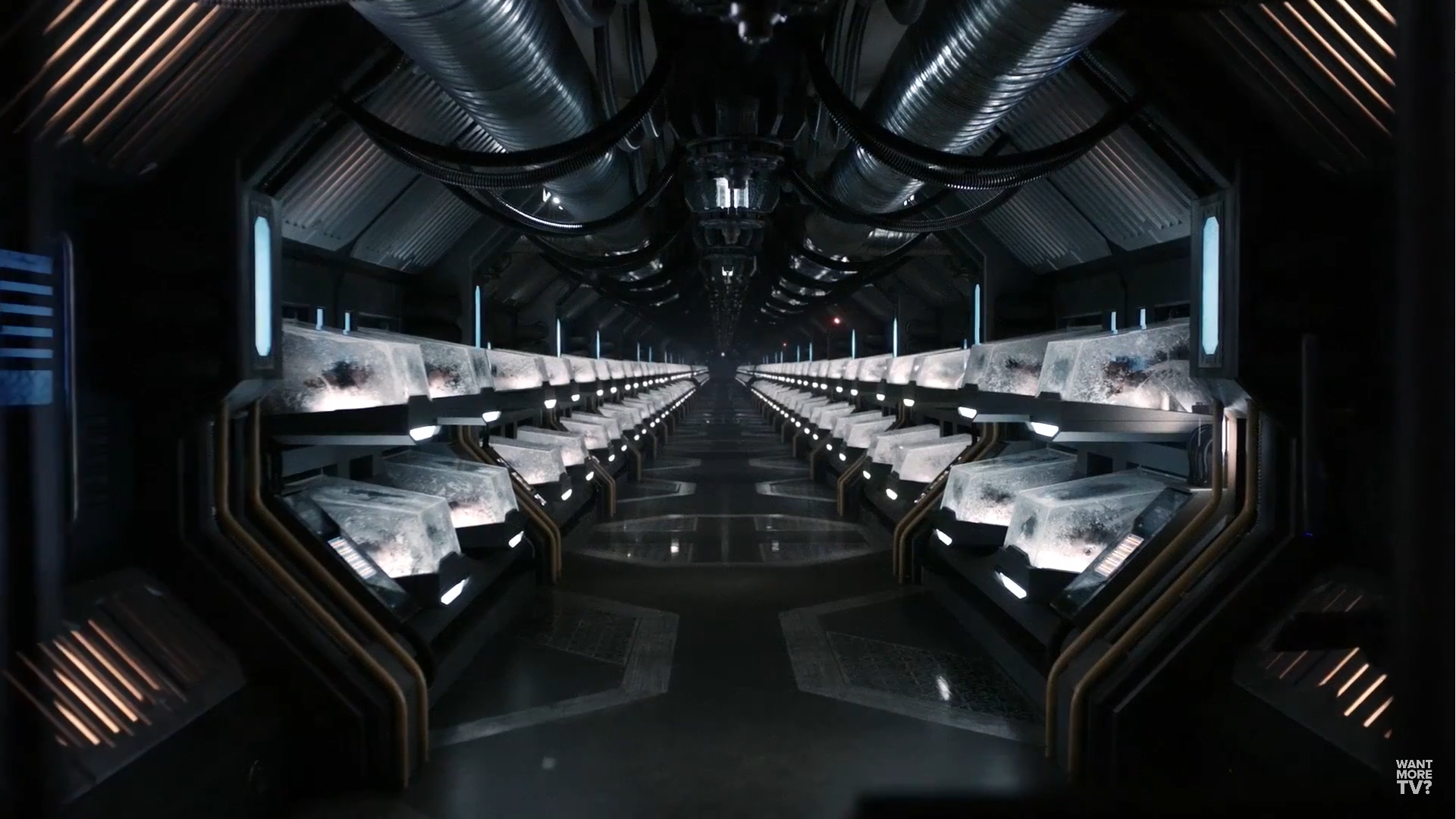 """""""What happens when these guys get to the ground? This is an army."""" Space crew stumbles upon rows of cryogenically frozen bodies aboard one of the Eligius ships."""