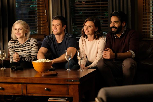 The gang sit down for an episode of  Hi Zombie . I love seeing these four smile!