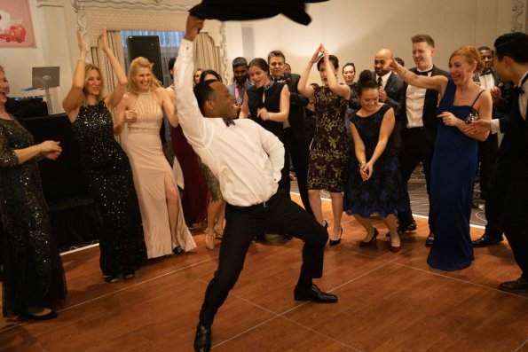 We briefly interrupt this heist for Malcolm Goodwin's incredible dancing