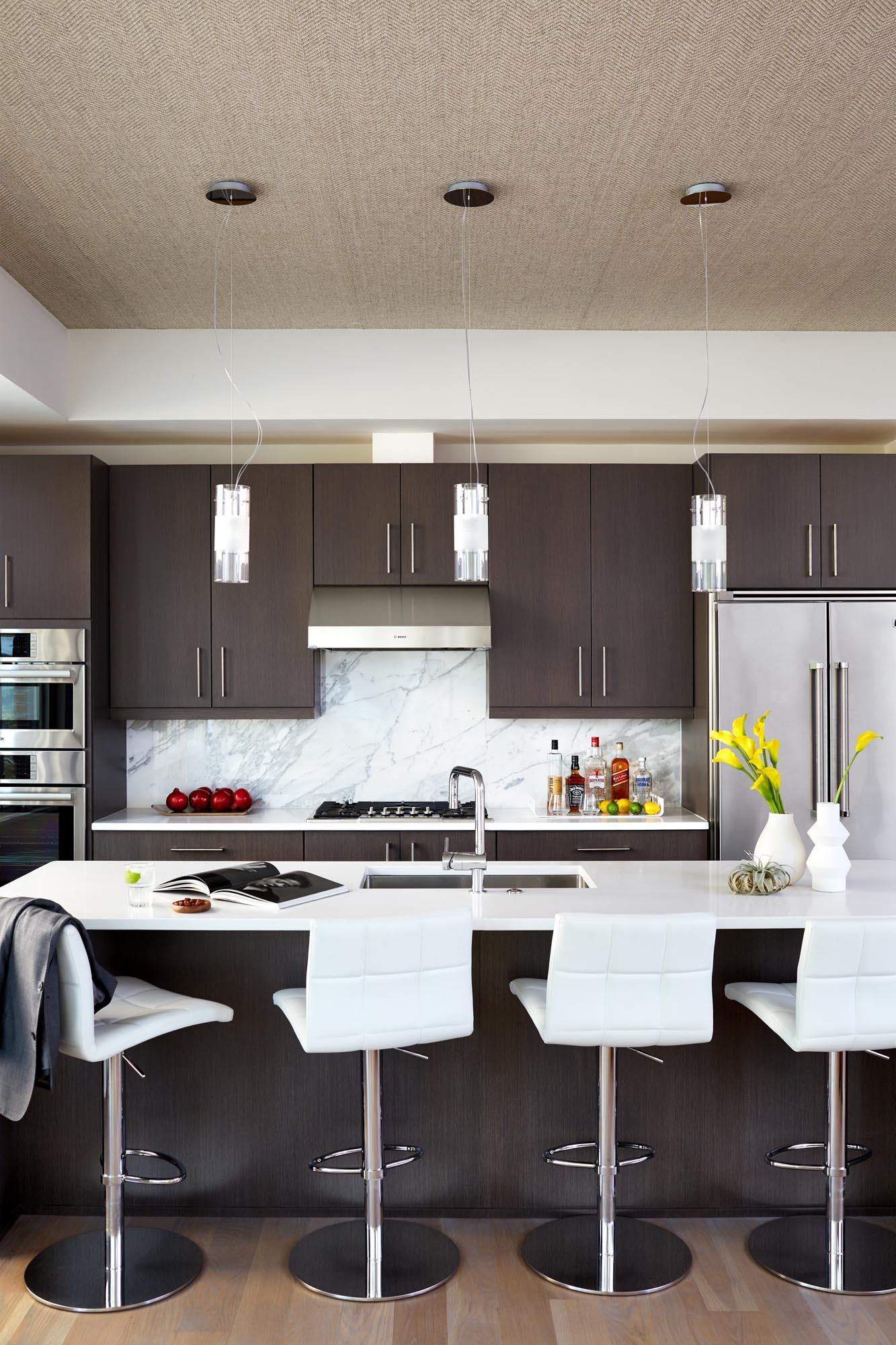 Boston kitchen island design by Dane Austin Design