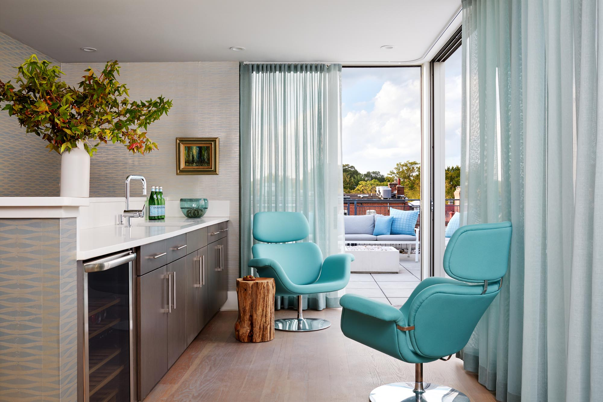 Boston lounge bar interior design by Dane Austin Design