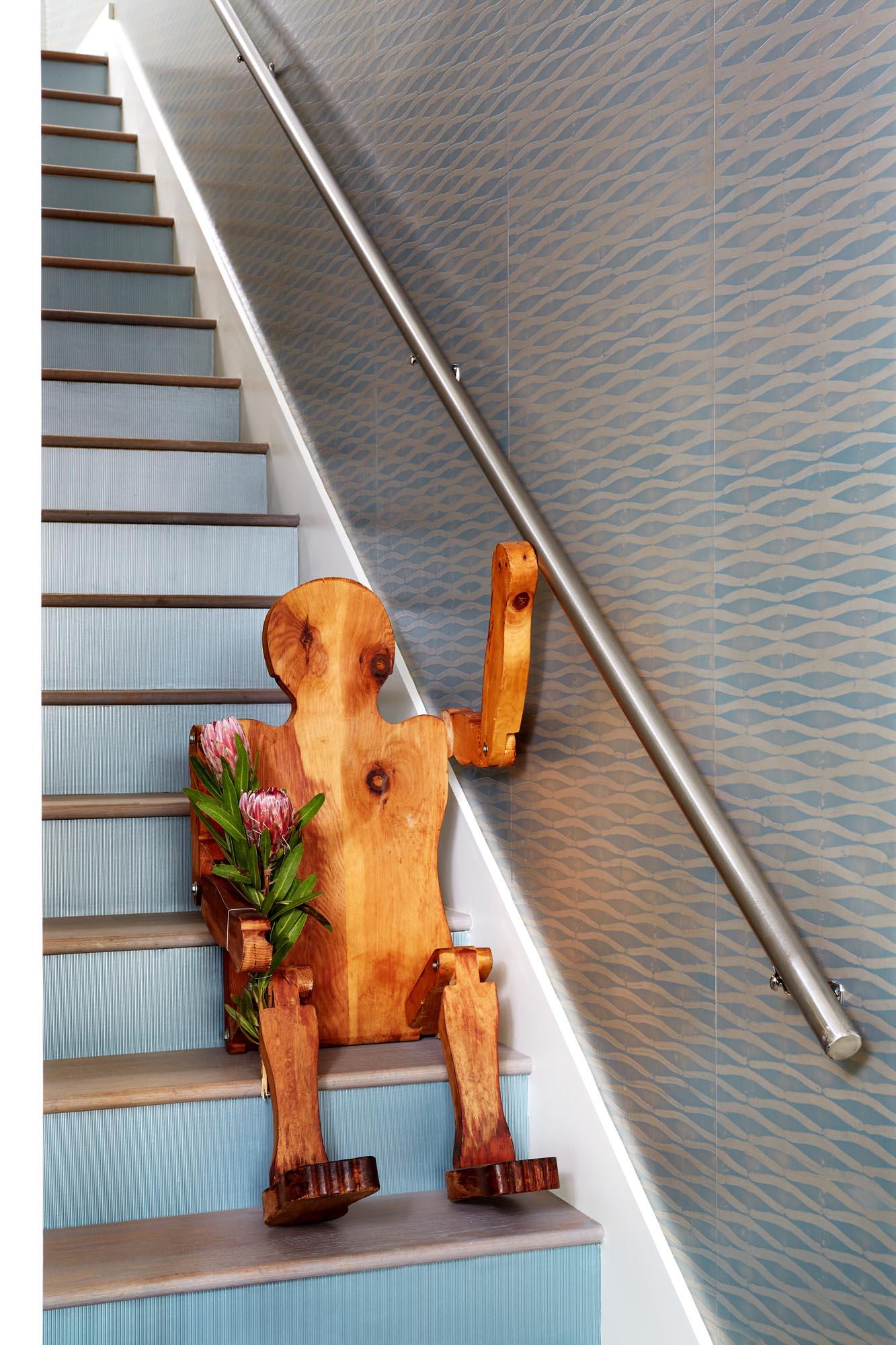 Boston staircase interior design by Dane Austin Design