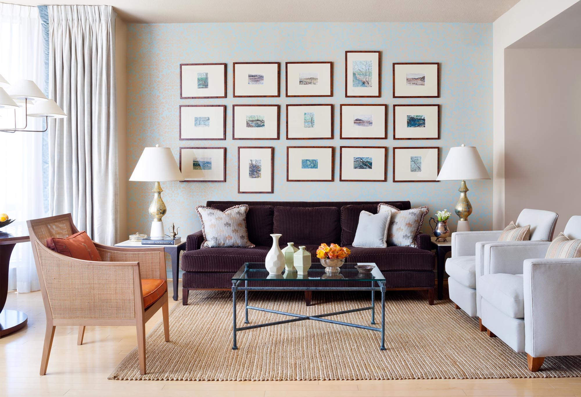 Boston living room interior design by Dane Austin Design
