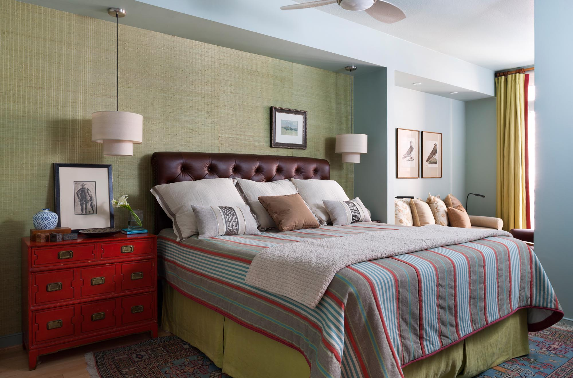 Boston master bedroom interior design by Dane Austin Design