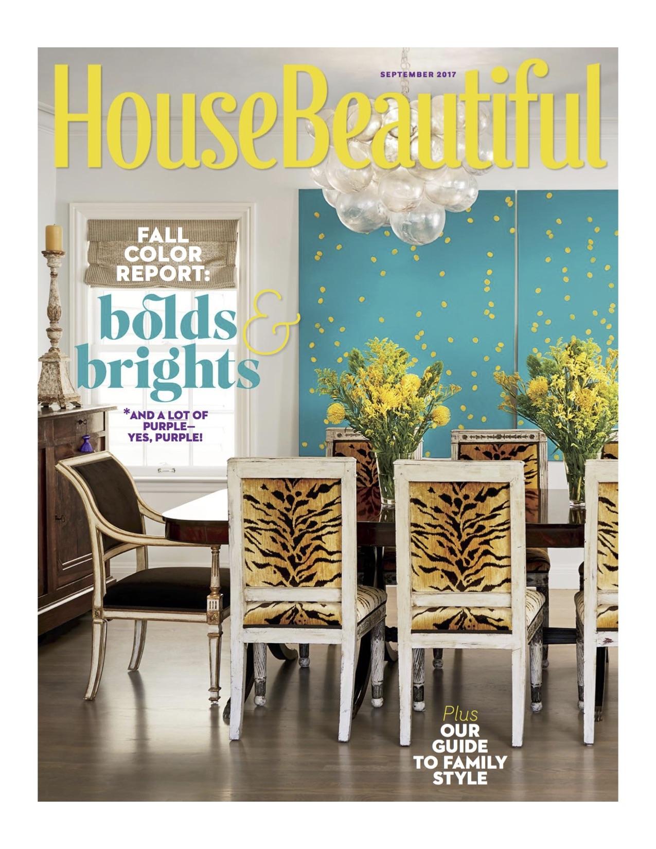 House Beautiful Magazine September 2017 issue