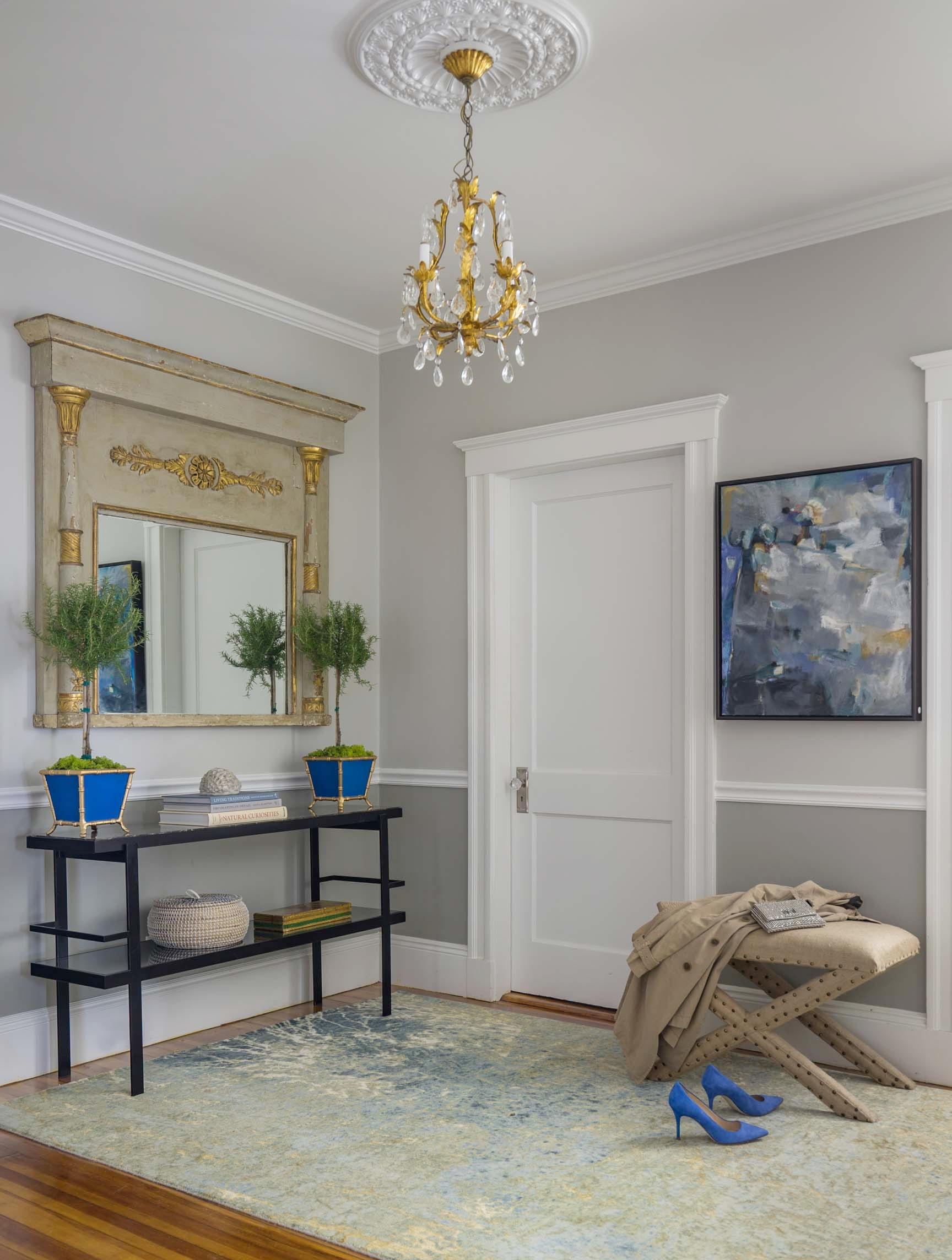 Boston entry foyer hall room interior design by Dane Austin Design