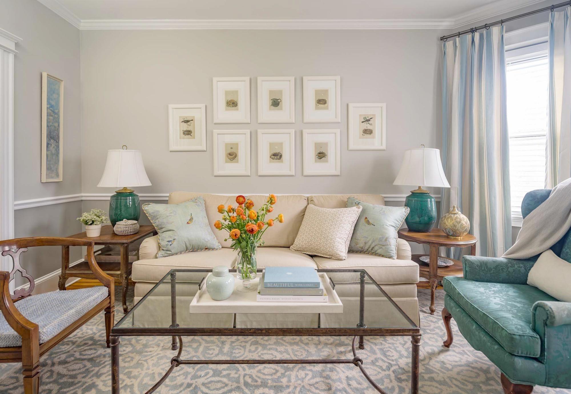 Boston living room interior design by Dane Austin Design