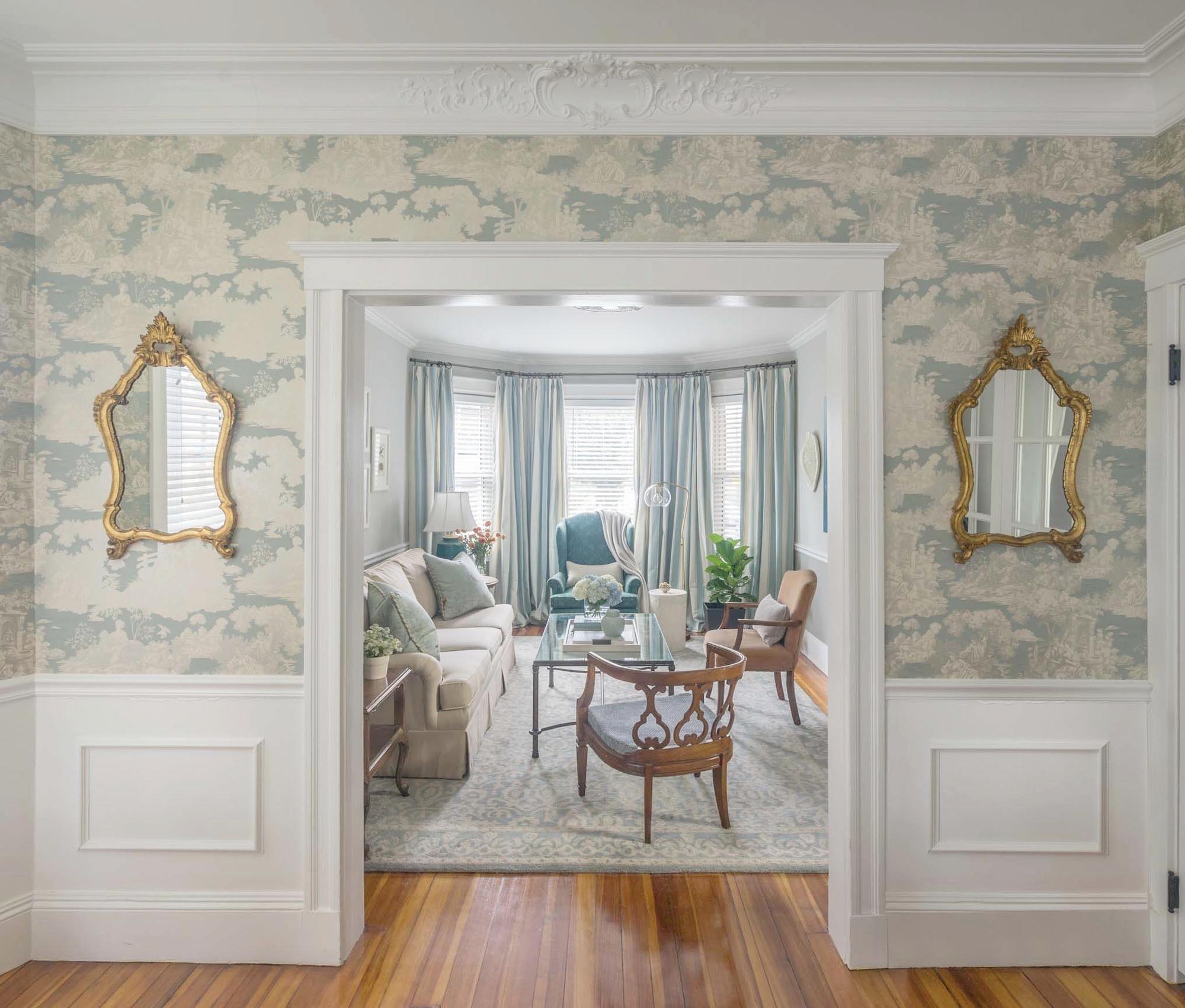 Boston entry interior design by Dane Austin Design