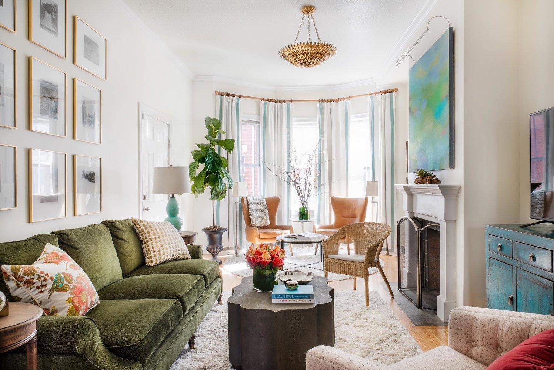 Charlestown Brownstone, Living Room Boston