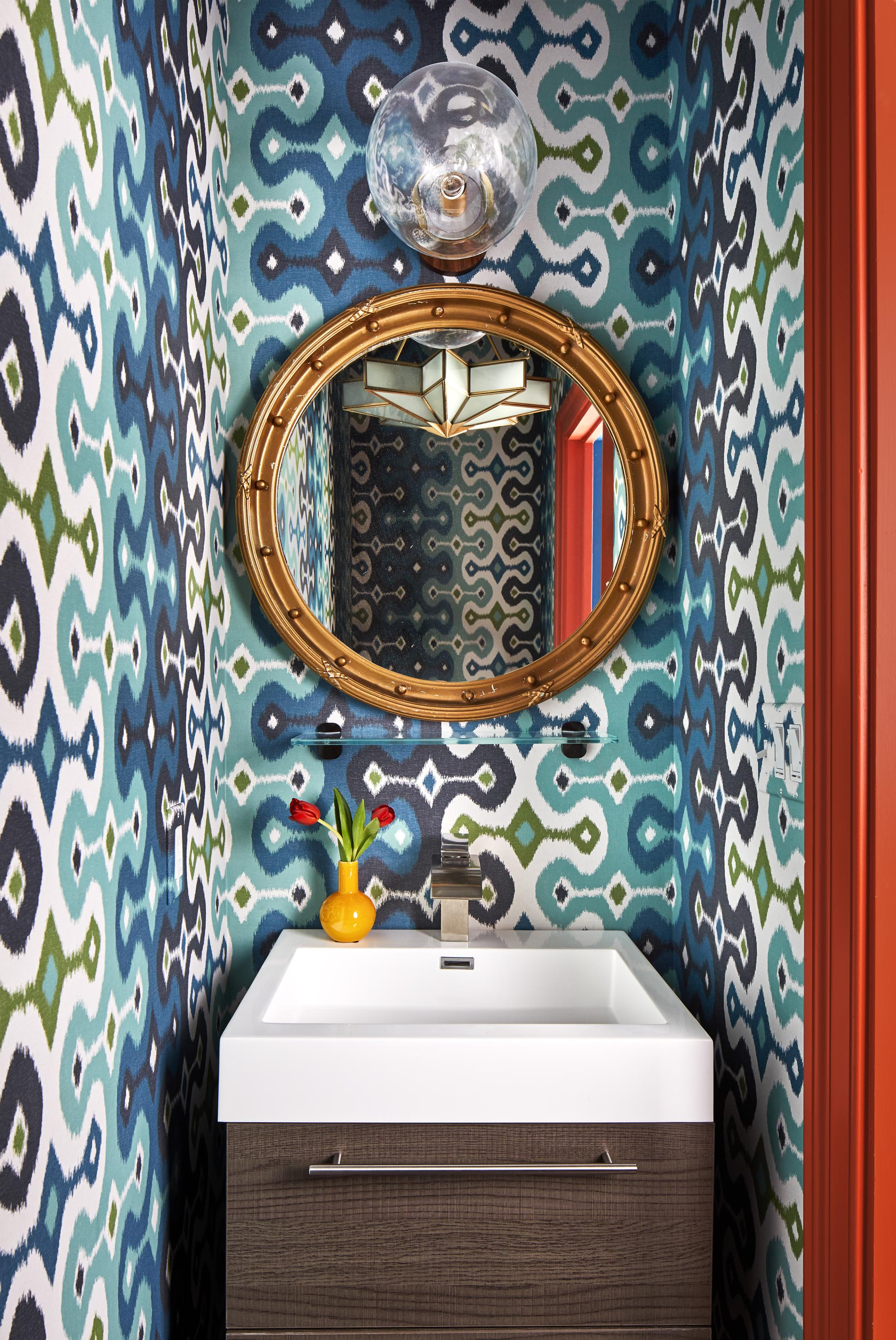 Boston powder room interior design by Dane Austin Design