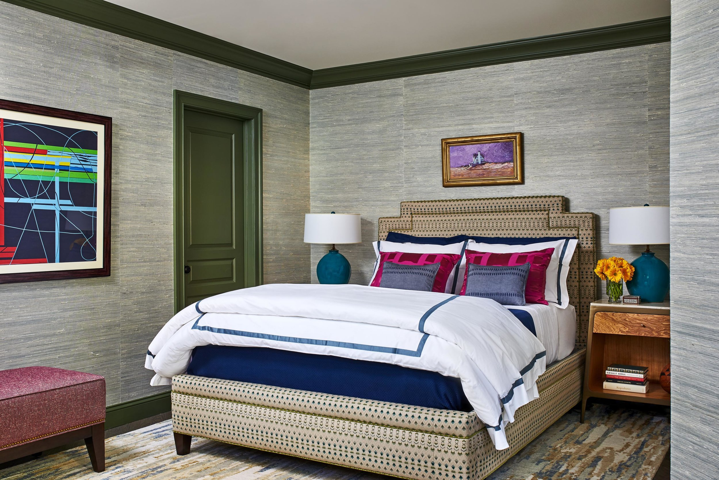 Boston bedroom interior design by Dane Austin Design