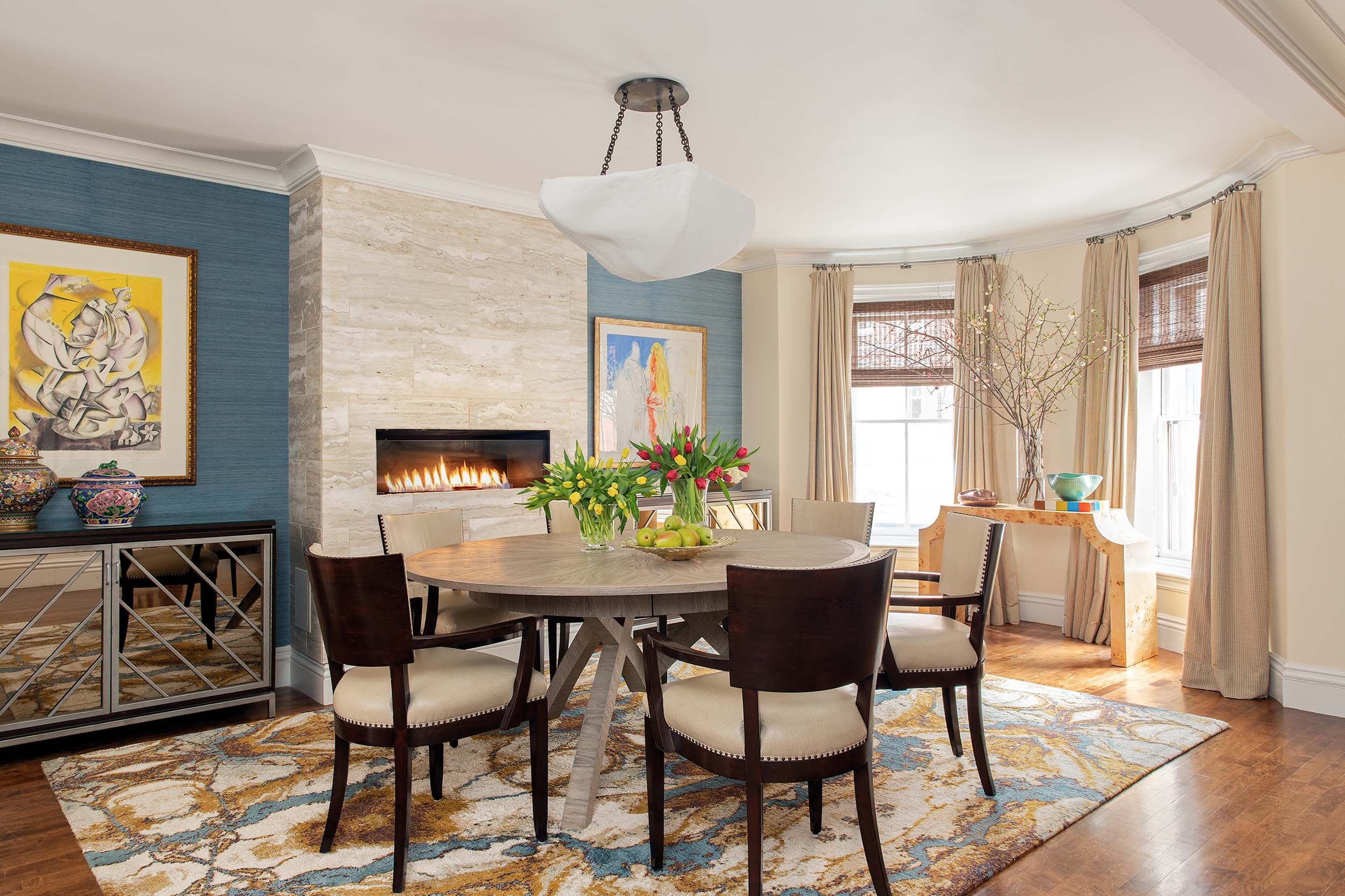 Boston dining room interior design by Dane Austin Design