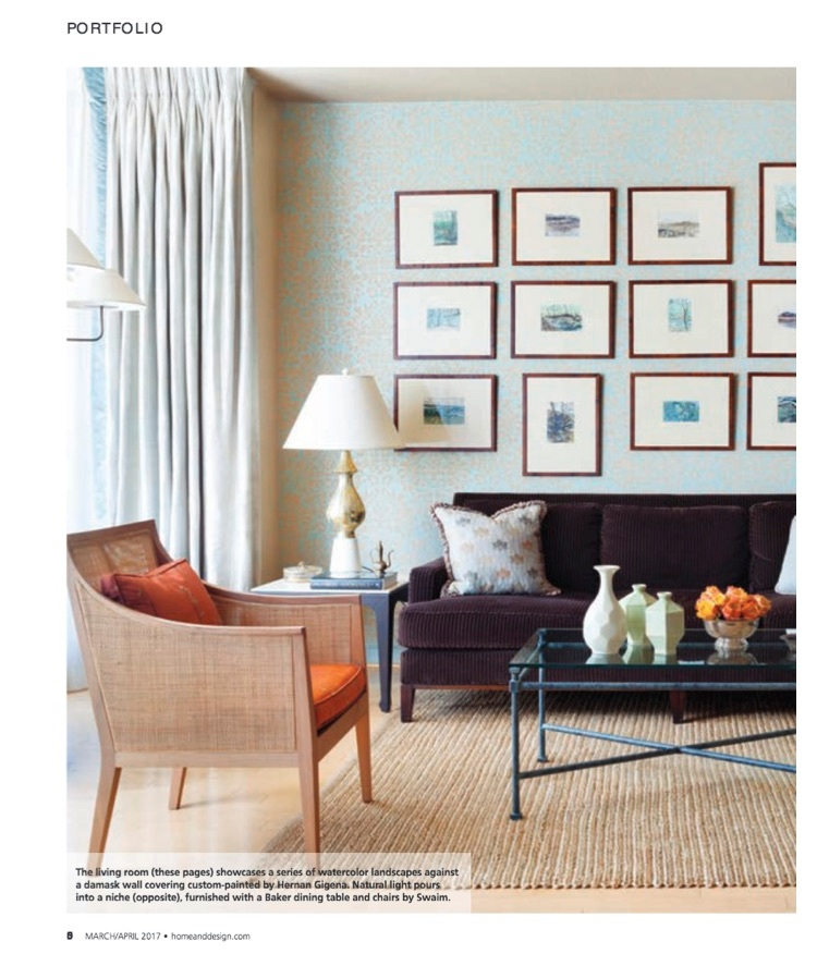 The Living Room.. Home and Design Magazine/ March 2017 issue