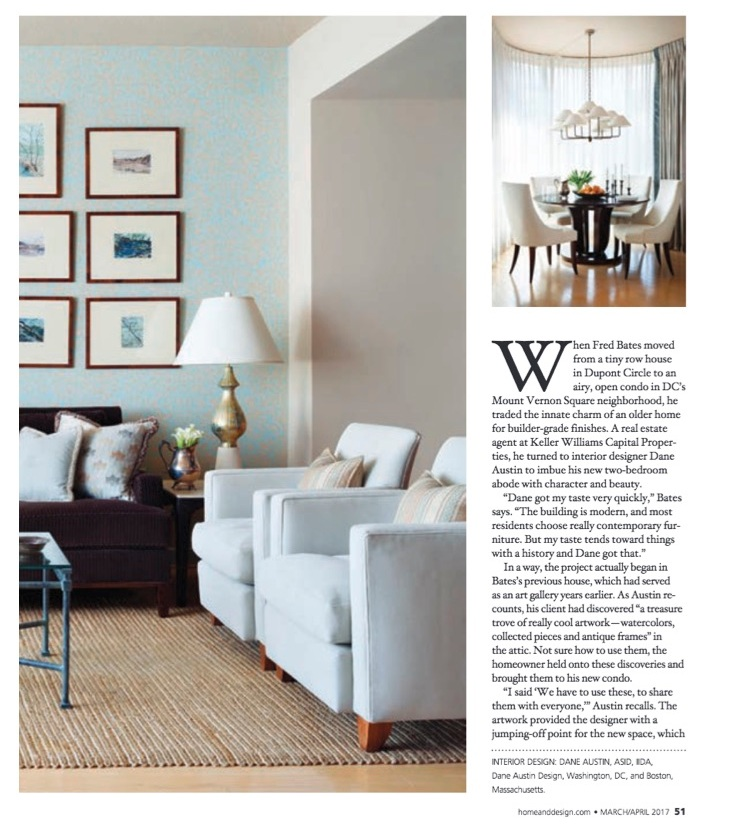 The living Room and Dining Area....Home and Design Magazine/ March 2017