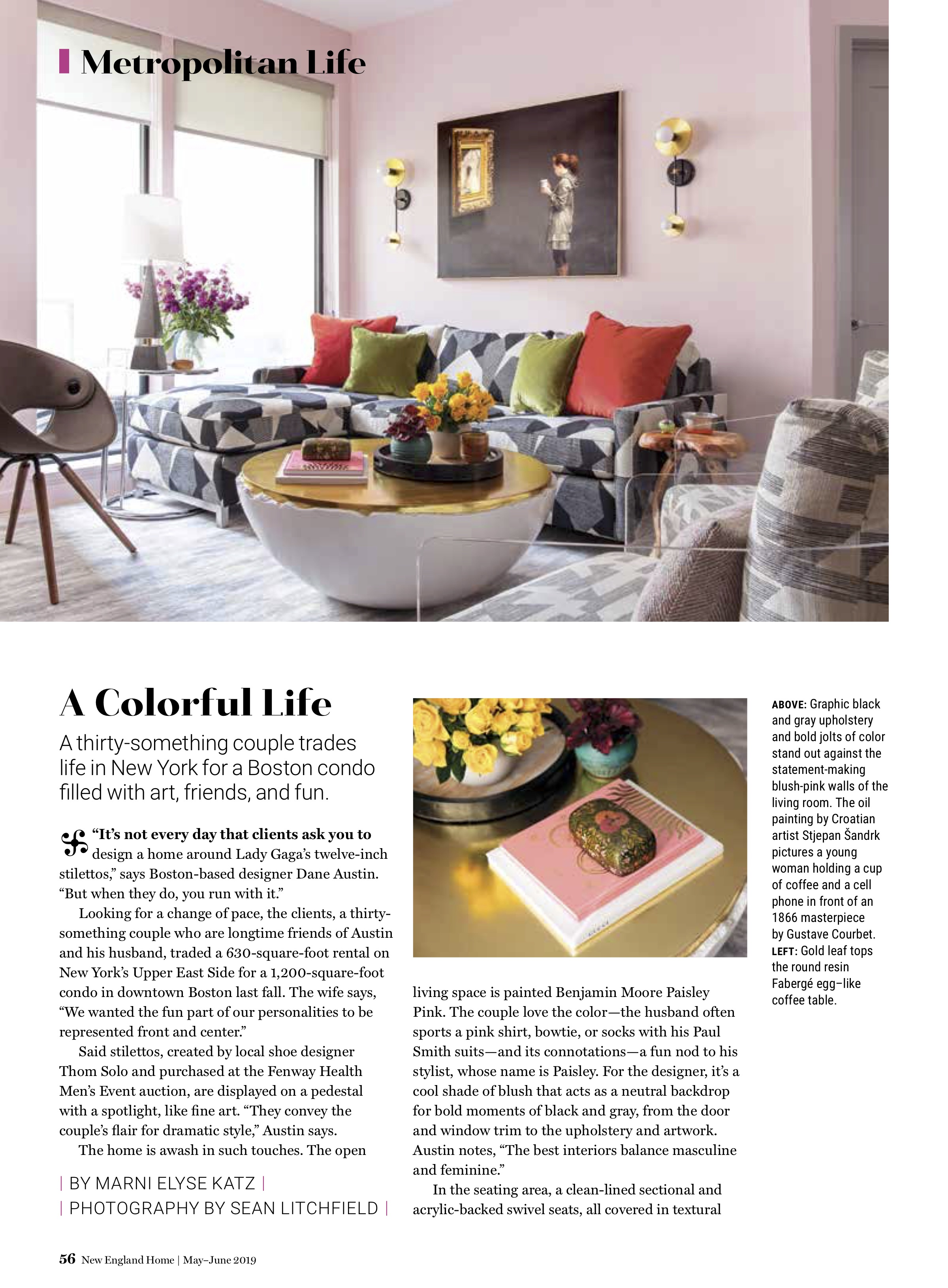 Dane Austin Design featured in New England Home May-June 2019 Page 2
