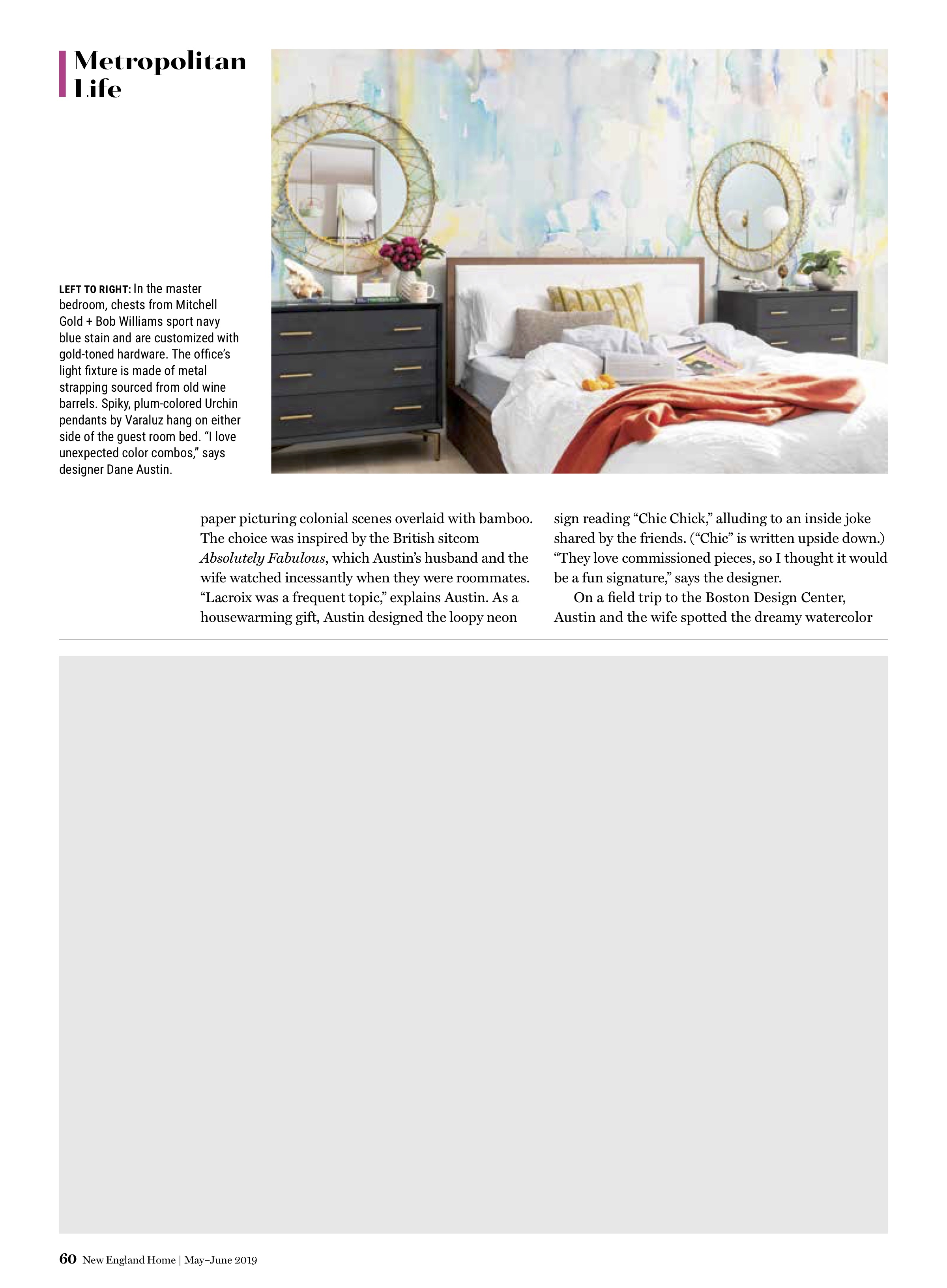 Dane Austin Design featured in New England Home May-June 2019 Page 4