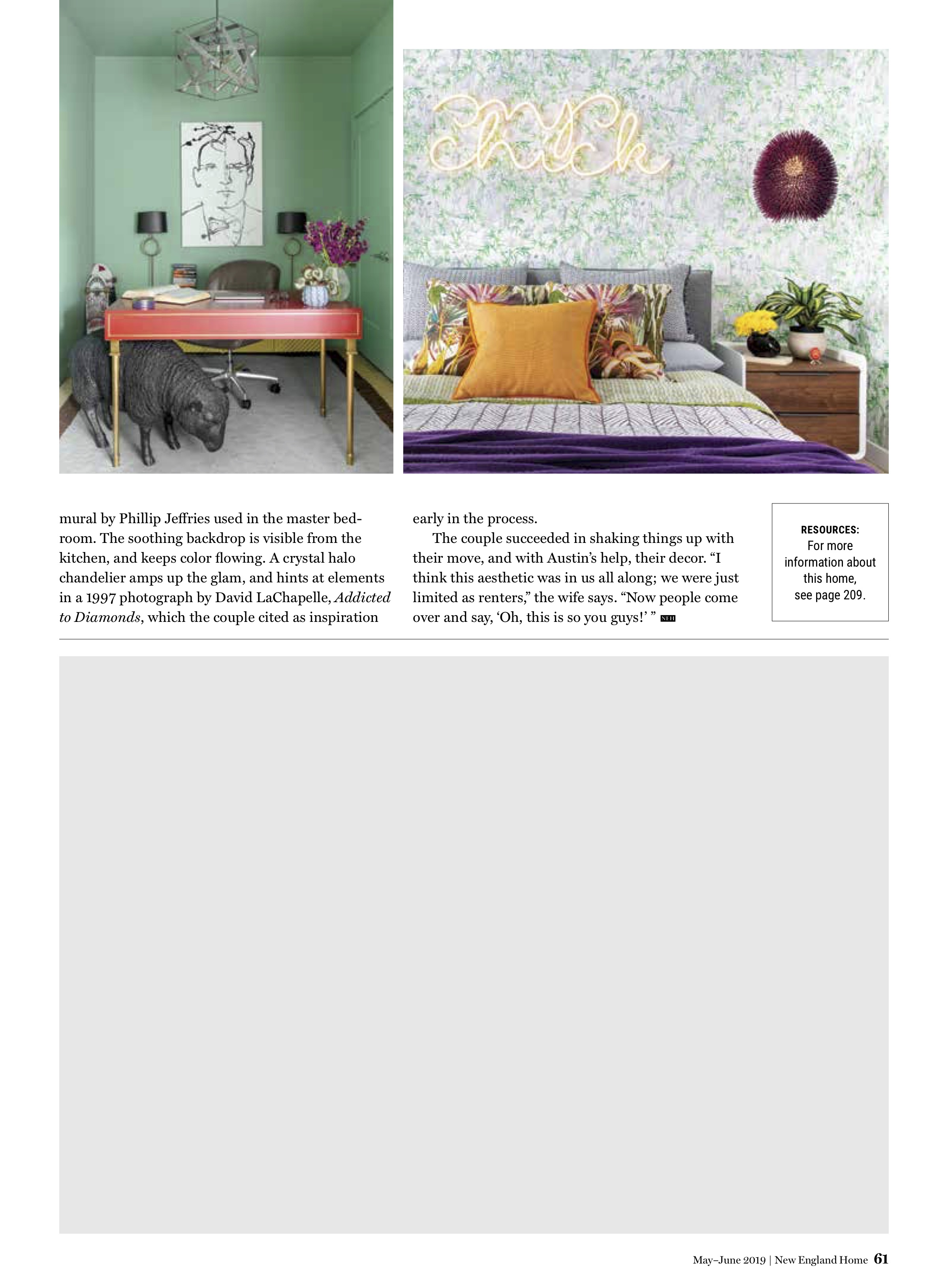 Dane Austin Design featured in New England Home May-June 2019 Page 5