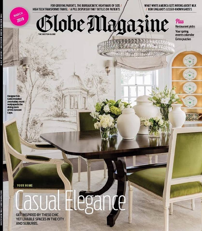 Dane Austin Design featured in Boston Globe Magazine March 2019
