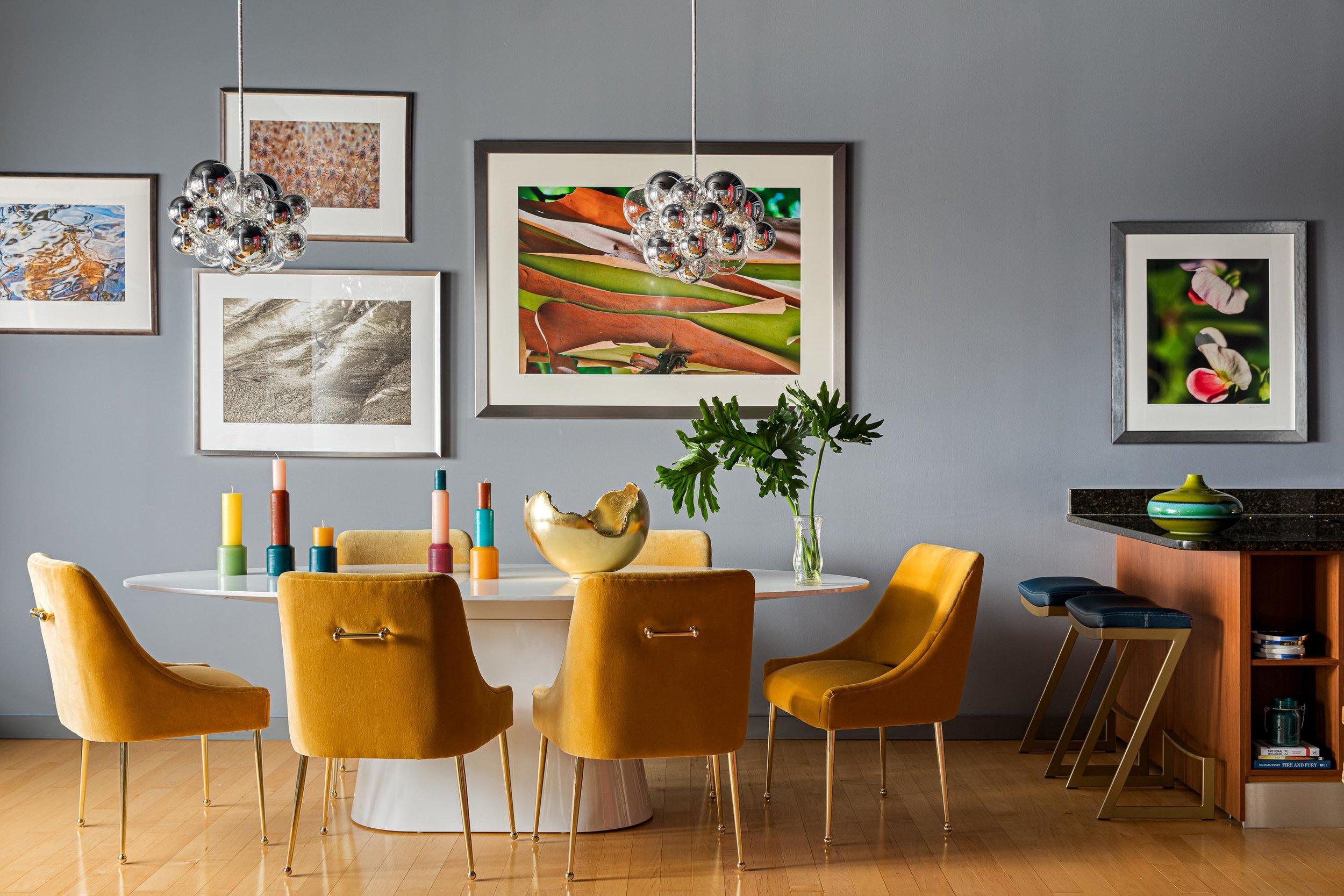 Boston dining room interior design by Dane Austin Design