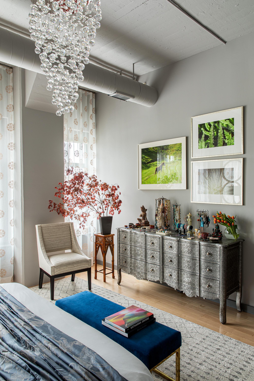 Boston bedroom interior design by Dane Austin Design