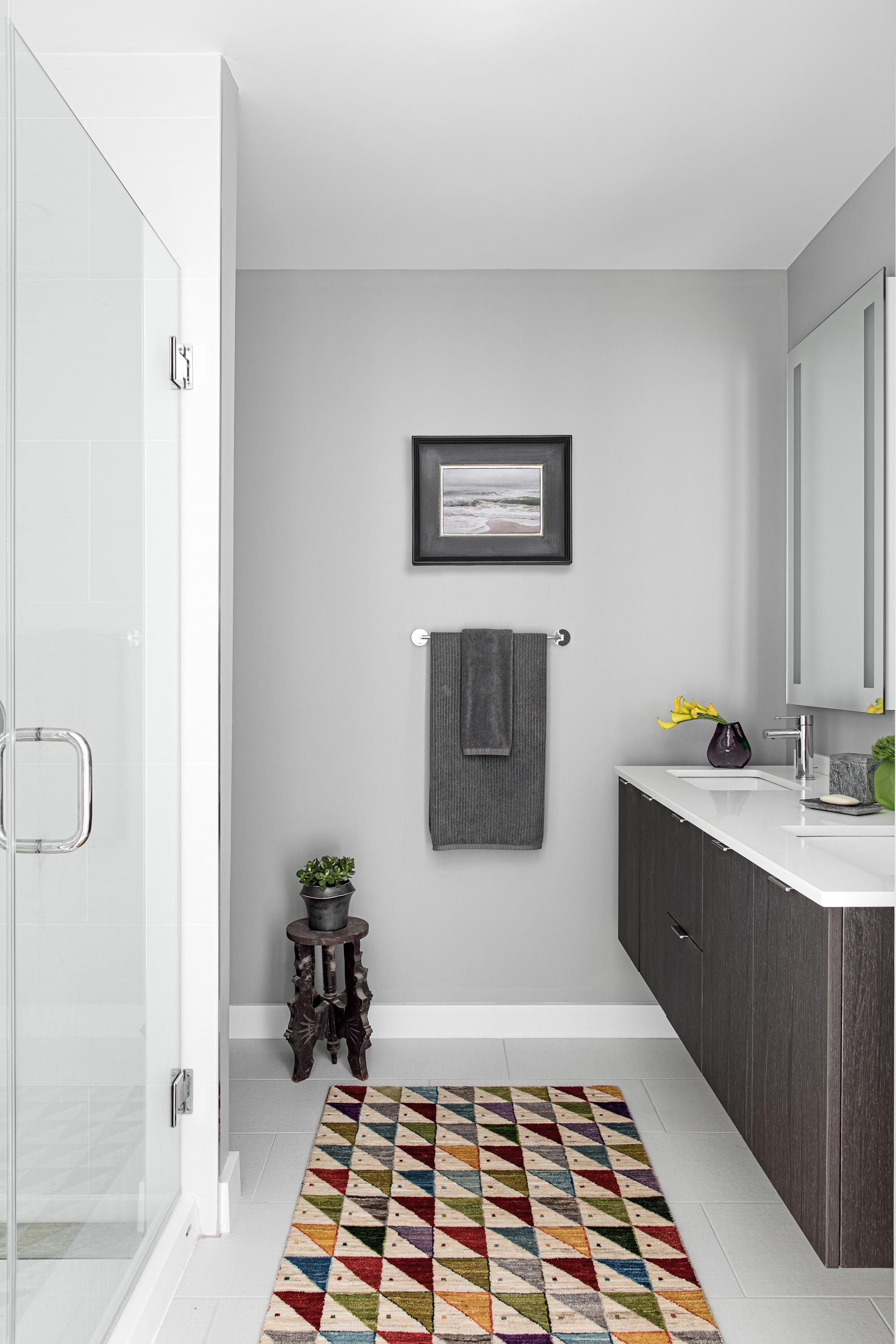 Boston bathroom interior design by Dane Austin Design