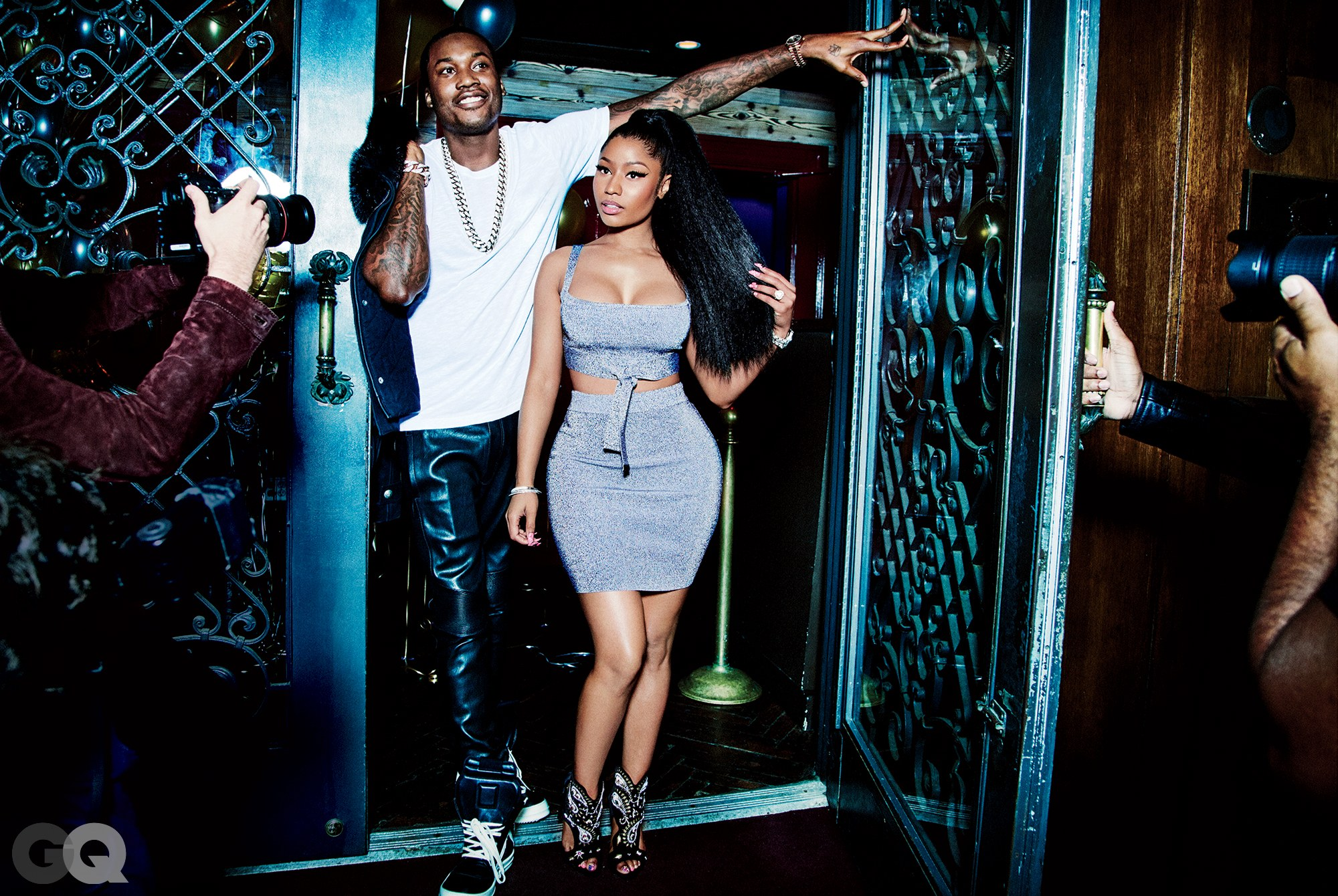 Nicki's a 4 with a 3 wing and Meek Mill is probably a 7