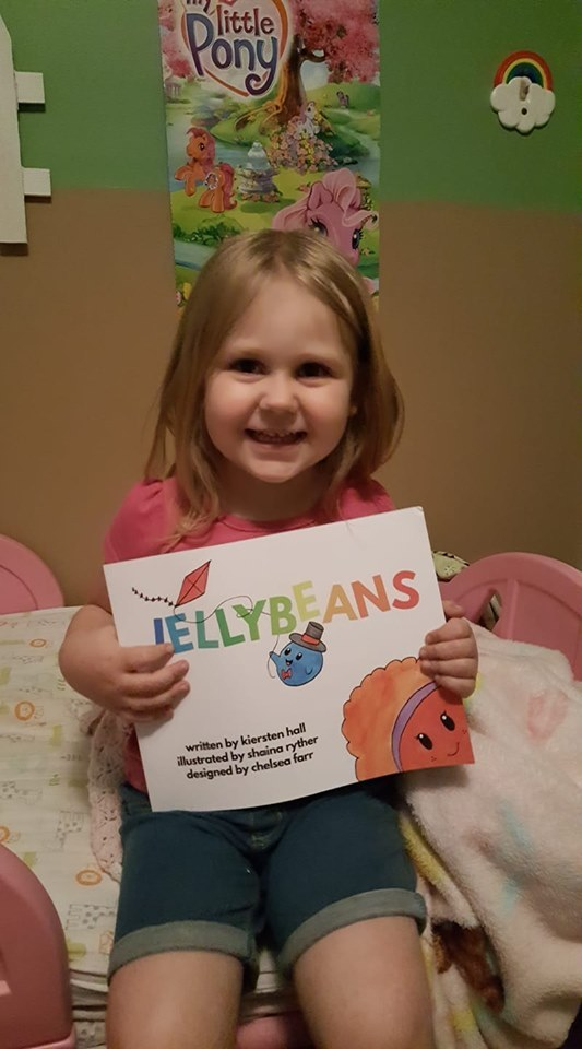 My daughter loves her Jellybeans book! She made me read it 3 times in a row at bedtime. ❤  💛💚💙💜 (FB Reader Review, 6/18/19)   :-)