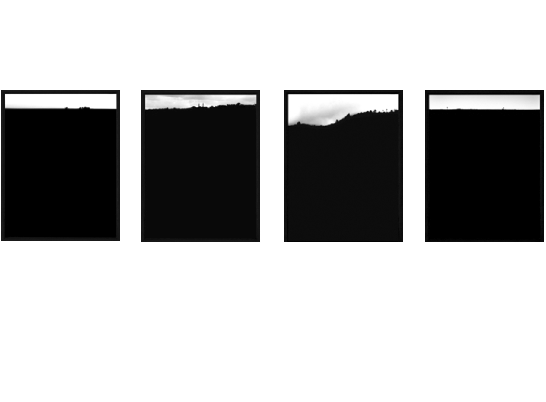 Series of 4, framed,one size, 2004-2005